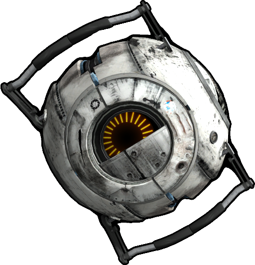 Animated space core from the game portal